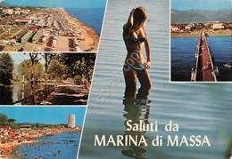 Cartolina Marina Di Massa Vedute Pin Up 1985 - Massa