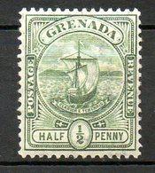 GRENADE - (Colonie Britannique) - 1905-08 - N° 60 - 1/2 P. Vert - (Armoiries) - Centraal-Amerika
