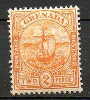 GRENADE - (Colonie Britannique) - 1905-08 - N° 62 - 2 P. Jaune Foncé - (Armoiries) - America Centrale