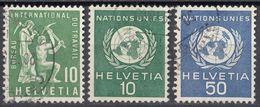 HELVETIA - Servizio -  Lotto Composto Da 3 Valori Usati: Yvert 364, 370 E 407. - Servizio