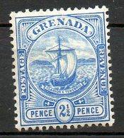 GRENADE - (Colonie Britannique) - 1905-08 - N° 63 - 2 1/2 P. Bleu - (Armoiries) - America Centrale