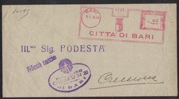 AP48   Italia,Italy Red Meter / Freistempel / Ema 1938 Città Di Bari - Affrancature Meccaniche Rosse (EMA)