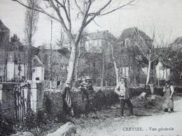 """46 - CREYSSE - VUE GENERALE - """" BELLE ANIMATION """" -  ////    RARE   //// - Autres Communes"""