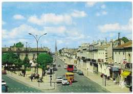 Bordeaux Tube Citroen 2CV La Place Nansouty, Le Cours De L' Yser L. Chatagneau Bordeaux N°198 Véritable Photo Au Bromure - Bordeaux