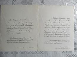 CHATEAU DE LA LOYERE LE 4 JUIN 1929 LE MARQUIS DE LA MAISONNEUVE AVEC MADEMOISELLE SUZANNE JEANNIN-NALTEZ - Mariage