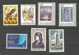 Luxembourg N°814 à 820 Neufs** Cote 4.45 Euros - Unused Stamps