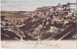 GRAVINA(BARI) - VISTA DAL TORRENTE - VIAGGIATA 1906 - Bari