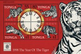 Ref. 39515 * NEW *  - TONGA . 1998. EXPOSICION FILATELICA INTERNACIONAL. A�O DEL TIGRE - Tonga (1970-...)