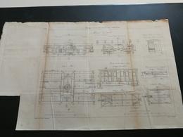 ANNALES DES PONTS Et CHAUSSEES (Norvège)- Plan Des Voies De Communications En Norvège Gravé Par Macquet 1887 (CLA17) - Machines