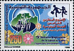 Ref. 92345 * NEW *  - TUNISIA . 1998. 5 SEMANA MAGRABI DE LA SANIDAD ESCOLAR - Tunisia (1956-...)