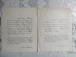 EGLISE SAINT PIERE DE CHAILLOT LE 26 FEVRIER 1935 ARON JULES DE BENOIST AVEC MADEMOISELLE MARIE-THERESE DAUGER - Mariage