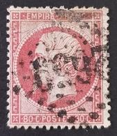 1862, Emperor Napoléon Lll, 80c, Empire Française, France - 1862 Napoleon III