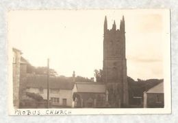 RP PROBUS CHURCH & COTTAGES UNUSUAL CARD Nr TRURO - England