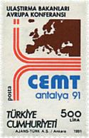 Ref. 59351 * NEW *  - TURKEY . 1991. EUROPEAN TRANSPORT MINISTERS CONFERENCE. CONFERENCIA DE MINISTROS EUROPEOS DE TRANS - Türkei
