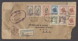 SIAM. 1955 (1 July). BKK / GPO - USA (9 July). Reg Multifkd + Customs Controlled Env. 23b 70st Rate. Fine. - Siam