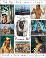 ROMANIA, 2019, CECILIA CUTESCU-STORCK, Art, Sculpture, Women, Souvenir Sheet, MNH (**); LPMP 2231a - 1948-.... Républiques