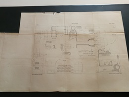 ANNALES DES PONTS Et CHAUSSEES- Plan De Mécanique Imp A.Broise 1884 (CLA20) - Machines