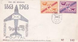 CORRESPONDENCIA MULTILATERAL 1863-1963 ECUADOR FDC - BLEUP - Equateur