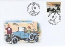 France - Fête Du Timbre 2019 - Voiture Citroën - Professeur Tournesol - Tintin - Automobile - Voitures