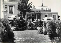 -gds Formats -ref-Y861- Var - Bandol - Hotel De L Ermitage - Terrasse - Hotels - Carte Bon Etat - - Bandol