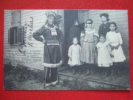 """CANADA - """" ANCIENNE ET NOUVELLE GENERATION D' UNE FAMILLE D' INDIENS IROQUOIS DE PROVINCE DE QUEBEC """" ///  RARE //// - Non Classés"""