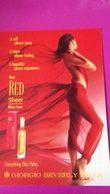 RED SHEER  GIORGIO BEVERLY HILLS - Cartas Perfumadas
