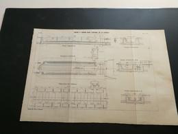ANNALES PONTS Et CHAUSSEES (Espagne)- Plan Du Bassin à Radoub Dans L'Arsenal De La Carraca Graveur Anonyme 1904 (CLA21) - Cartes Marines