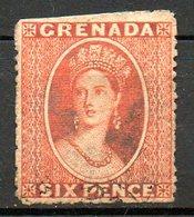 GRENADE - (Colonie Britannique) - 1873-75 - N° 4B - 6 P. Vermillon Foncé - (Victoria) - Central America