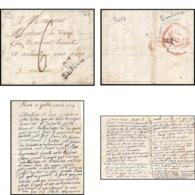 9037 LAC Burre Par 20 Semur Cote D Or Auteuil 1824 Cachet Banlieue Marque Postale Lineaire 25x11 France Lettre Cover - Postmark Collection (Covers)