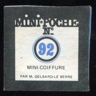 MINI-POCHE N° 92 MINI-COIFFURE - Autres Objets BD
