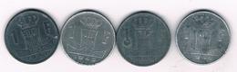 1 FRANC 4 X 1940-1945 BELGIE /3261/ - 04. 1 Franc