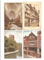 FOUR OLD POSTCARDS OF MORETON HALL CONGLETON CHESHIRE - England