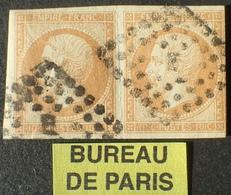 """DF50478/422 - NAPOLEON III (PAIRE) N°13A - BUREAU """" E """" De PARIS - 1853-1860 Napoléon III"""