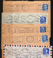 5 Enveloppes Complètes - Oblitérations Type KRAG - 1953 à 1957 - 1921-1960: Periodo Moderno