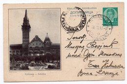 YUGOSLAVIA, SERBIA, SUBOTICA, 1938, 1 DINAR GREEN, USED, POSTAL STATIONERY - Serbia