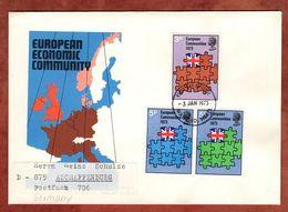 FDC, Beitritt Europaeische Gemeinschaft, Watford Nach Aschaffenburg 1973 (72168) - 1971-1980 Dezimalausgaben