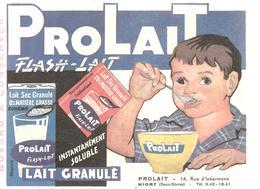 Buvard PROLAIT FLASH-LAIT Lait Granulé PROLAIT 14, Rue D'inkermann à Niort (Deux-Sèvres) - Produits Laitiers