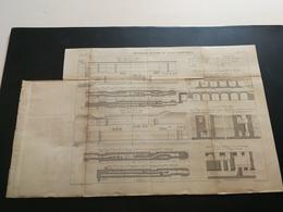 ANNALES DES PONTS Et CHAUSSEES (Dep 93)- Plan Des Nouvelles Ecluses Du Canal Saint Denis Graveur Macquet 1893 (CLA28) - Cartes Marines