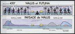Wallis, BF N° 06** Y Et T, Bloc Feuillet 6, Vues Des îles - Hojas Y Bloques