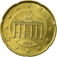 République Fédérale Allemande, 20 Euro Cent, 2002, TTB, Laiton, KM:211 - Allemagne