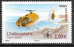 France 2007 Poste Aérienne N° 70, Hélicoptère, à La Faciale - Poste Aérienne