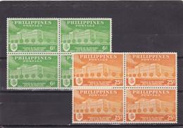 Filipinas Nº 487 Al 488 En Bloque De Cuatro - Filipinas