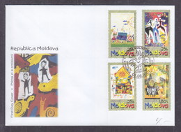 Moldova 2001 International Day Of The Child FDC - Moldavia
