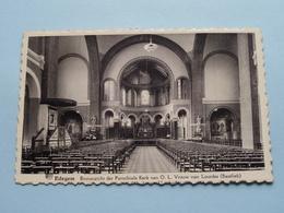 Binnenzicht Parochiale Kerk Van O.L.Vrouw Van Lourdes (Baseliek) Edegem ( B. Peeters-Soeten ) Anno 19?? ( Zie Foto's ) ! - Edegem