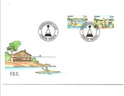 ALAND FDC 1991 CANOE KAYAK ET VELO TANDEM - Aland