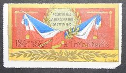 France Vignette Militaire Delandre 124e D'Inf. - Commemorative Labels