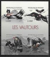 BURUNDI  Feuillet  N° 1794/97 * *  NON DENTELE Oiseaux Rapaces Vautours - Aigles & Rapaces Diurnes