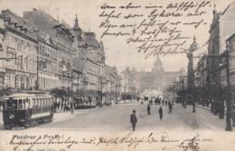 AK - Gruss Aus PRAG - Reger Verkehr Auf Der Boulevardstrasse Zum Wenzelsplatz Mit Strassenbahn 1904 - Tschechische Republik