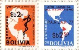 Bolivia 1978 ** CEFIBOL 1070-71 Reunión Ministros Salud Andinos. Año Mundial Reumatismo - Bolivia