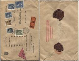 Böhmen Und Mähren # 110 U.a. Wertbrief 6.2.1945 > Pardubice, Gutsbesitzer Und Pächter Siegel - Briefe U. Dokumente